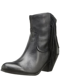 Botines de Cuero Сon Flecos Negros de Sam Edelman
