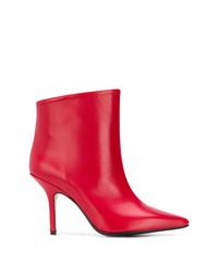 Botines de Cuero Rojos de Anna F.