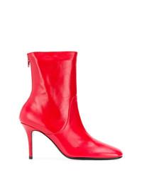Botines de Cuero Rojos de Dorateymur