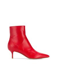 Botines de cuero rojos de Francesco Russo
