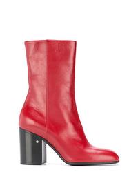 Botines de cuero rojos de Laurence Dacade