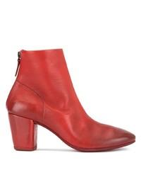 Botines de cuero rojos de Marsèll