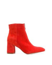 Botines de Cuero Rojos de Rebecca Minkoff