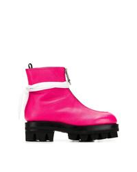 Botines de cuero rosa de 1017 Alyx 9Sm