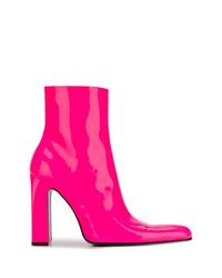 Botines de cuero rosa de Balenciaga