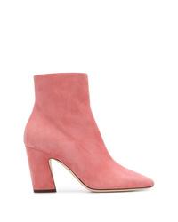 Botines de cuero rosa de Jimmy Choo