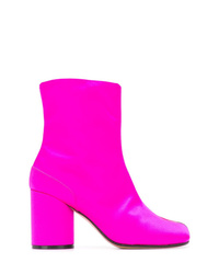 Botines de cuero rosa de Maison Margiela