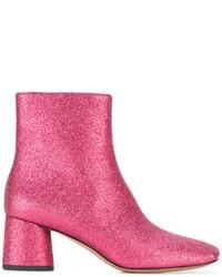 Botines de cuero rosa de Marc Jacobs
