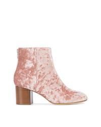 Botines de cuero rosados de Rag & Bone