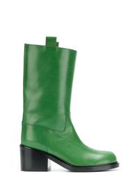 Botines de cuero verdes de A.F.Vandevorst
