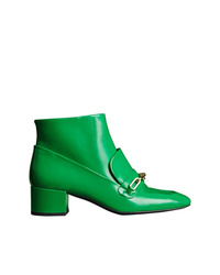 Botines de cuero verdes de Burberry