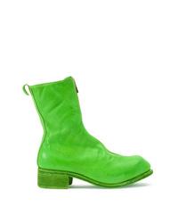 Botines de cuero verdes de Guidi