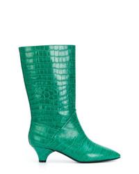 Botines de cuero verdes de Marni