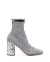 Botines de elástico grises de Miu Miu