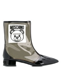 Botines de goma transparentes de Moschino