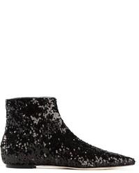 Botines de lentejuelas negros de Dolce & Gabbana