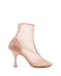 Botines de malla rosados de MM6 MAISON MARGIELA