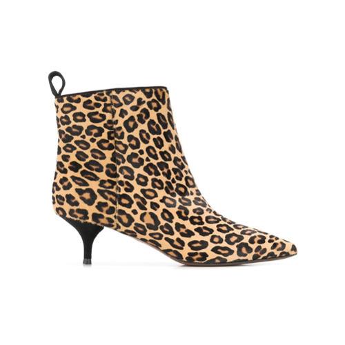 nuevo concepto estilo de moda de 2019 captura Botines de pelo de becerro de leopardo marrón claro de L'Autre Chose