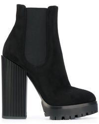 Botines gruesos negros de Dolce & Gabbana