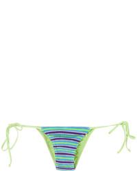 Braguitas de bikini de punto en turquesa de Cecilia Prado