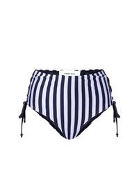 Braguitas de bikini de rayas verticales azul marino de Circus Hotel