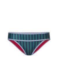 Braguitas de bikini de rayas verticales azul marino de Duskii