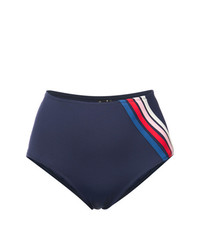 Braguitas de bikini de rayas verticales azul marino de Morgan Lane