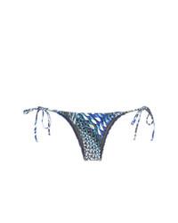 Braguitas de bikini estampadas azules de Lygia & Nanny
