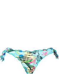 Braguitas de bikini estampadas en turquesa de Ermanno Scervino