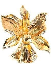 Broche con print de flores amarillo de Ungaro
