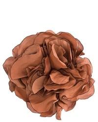 Broche con print de flores Marrón de Lanvin