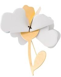 Broche con print de flores Plateado de Marni