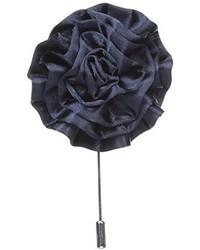 Broche de solapa con print de flores azul marino de Stacy Adams