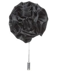 Broche de solapa con print de flores negro de Stacy Adams