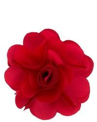 Broche de solapa con print de flores rojo