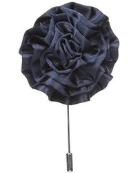 Broche de Solapa de Flores Azul Marino de Stacy Adams