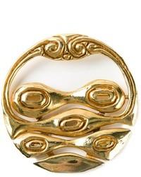 Broche de solapa dorado de Christian Lacroix