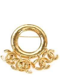 Broche dorado de Chanel