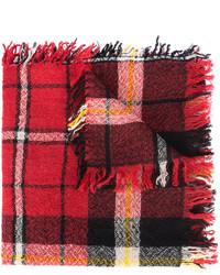 Bufanda a cuadros burdeos de Isabel Marant