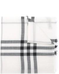 Bufanda a cuadros en blanco y negro de Burberry