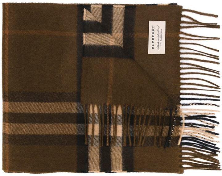 Bufanda a cuadros en marrón oscuro de Burberry