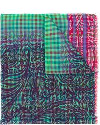 Bufanda a cuadros verde de Etro