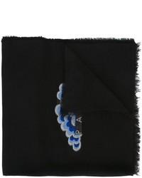 Bufanda bordada negra de Kenzo
