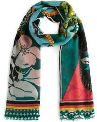 Bufanda con print de flores en multicolor de Etro