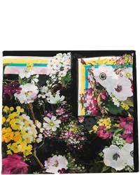 Bufanda con print de flores negra de Dolce & Gabbana