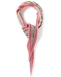 Bufanda con print de flores rosada de Hermes