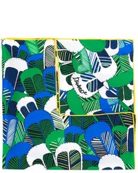 Bufanda con print de flores verde de Dsquared2