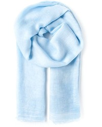Bufanda de algodón celeste de Faliero Sarti