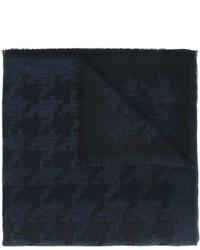 Bufanda de algodón de pata de gallo azul marino de Eleventy
