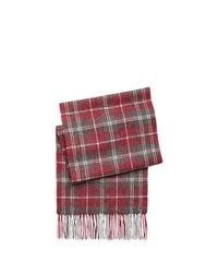 Bufanda de algodón de tartán roja